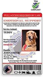XpressID Holographic Emotional Support Dog ID Card | Includes Registration to National Dog Registry