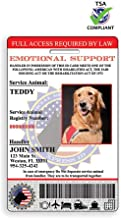 Digital and Physical Emotional Support Dog ID (Custom) | Includes Registration to National Dog Registry