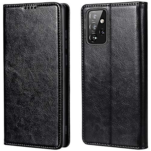 MInYCB - Funda para Samsung Galaxy A52, [protección RFID] [función atril] [cierre magnético] Funda para teléfono móvil con tarjetero, funda de piel plegable, funda para Galaxy A52 5G/4G, color negro