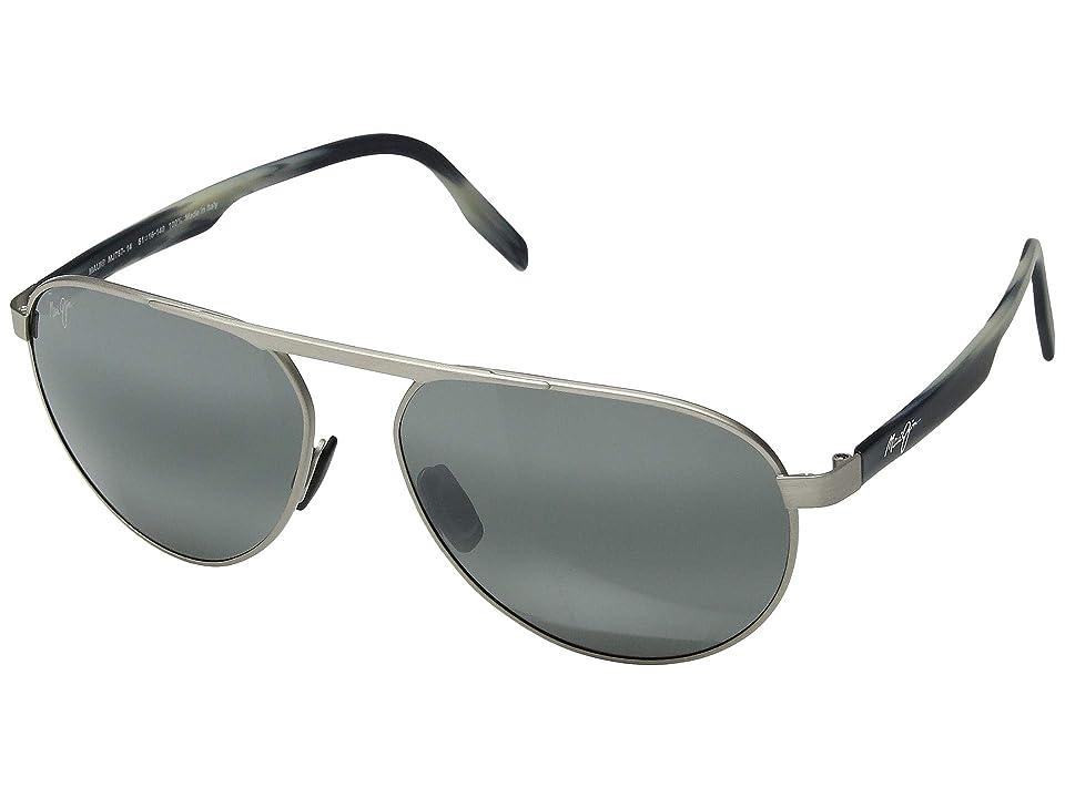 Maui Jim Swinging Bridges (Brushed Grey/Neutral Grey) Athletic Performance Sport Sunglasses