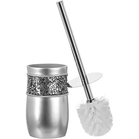 Bluecanyon PVC Toilet Brush Holder And Brush White Luxury Bathroom Accessories