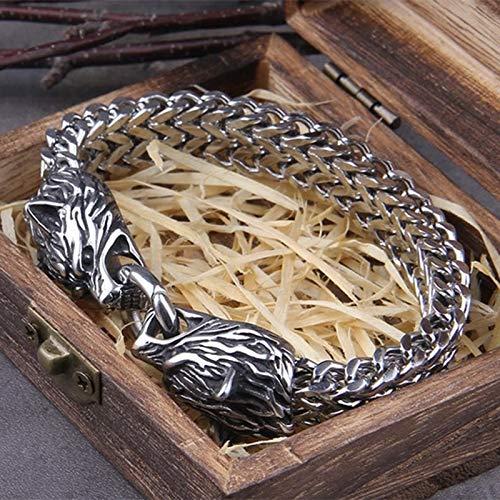 Delisouls Share Viking - Pulsera de acero inoxidable para artritis, unisex, el mejor regalo para cumpleaños, Navidad