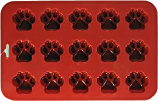 K9 Cakery 312662 Mini Paw Silicone Cake Pan, 9 by 5.5-Inch, 15-Cavity