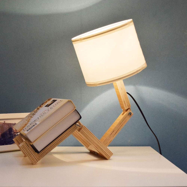 Kreative tischlampe tischlampe einfache Holz verstellbare tischlampe Wohnzimmer Schlafzimmer Studie nachttischlampe 5W [Energieklasse A +]