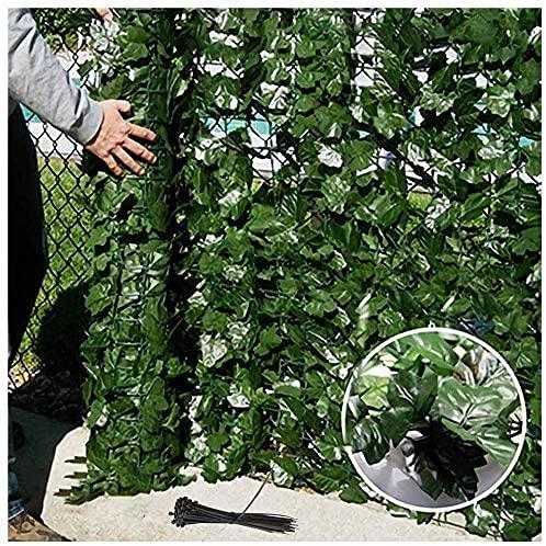 GXBCS Künstliche Hecke Efeublatt Pflanzen Kunstblumen Pflanzen Outdoor Ivy Privacy Screen Künstlicher Zaun Gartenzaun Dekorative Wand S++