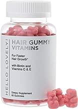 Angel Bear Hair Vitamins Gummies with Biotin 5000 mcg Vitamin C & E for Faster Hair Growth, Premium Pectin-Based, Non-GMO, for Stronger, Healthier Hair & Nails. Red Berry Supplement - 60 Gummy Bears