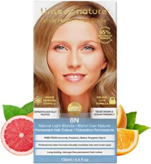 Tints of Nature 8N Natural Light Blonde Permanent Hair Dye, Single