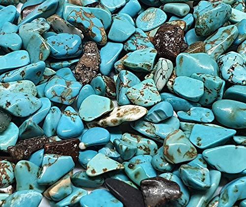 Perlin - 1000 unidades de perlas de piedras preciosas turquesas de 4 mm ~ 8 mm, semipreciosas, perlas de joyería, piedras turquesas para cabachon