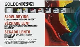 Golden Open Acrylic Modern Theory,Multi,Set Of 8