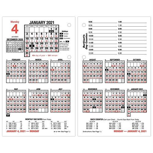 Refil de calendário de mesa diário 2021 da AT-A-GLANCE, 11 cm x 19 cm, folha solta (E7125021)