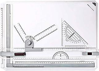 AllRight Planche à Dessin A3 Drawing Board Table à Dessin avec Mouvement Parallele Mécanique Dessin Technique Architecture...