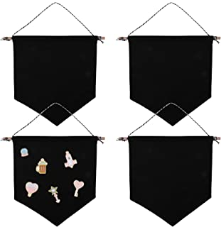 Yesland 4 Pcs Wall Display Banners & Blank Wall Canvas Banner for Displaying Pins, Buttons and Label Collections - 10.5 X ...