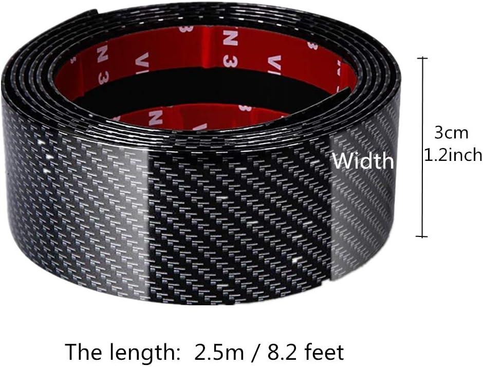 Youngine Universal Carbon Fiber Autotürschwellenschutz Selbstklebender Flexibler Autoaufkleberschutz Für Auto Suv Lkw Türschutzleisten 3 250cm 1 2 98 4 B L Auto