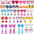 HaiMay Clip-on Earrings Girls Play Earrings for Party Favor,All Packed in Clear Boxes by BUBBLE US