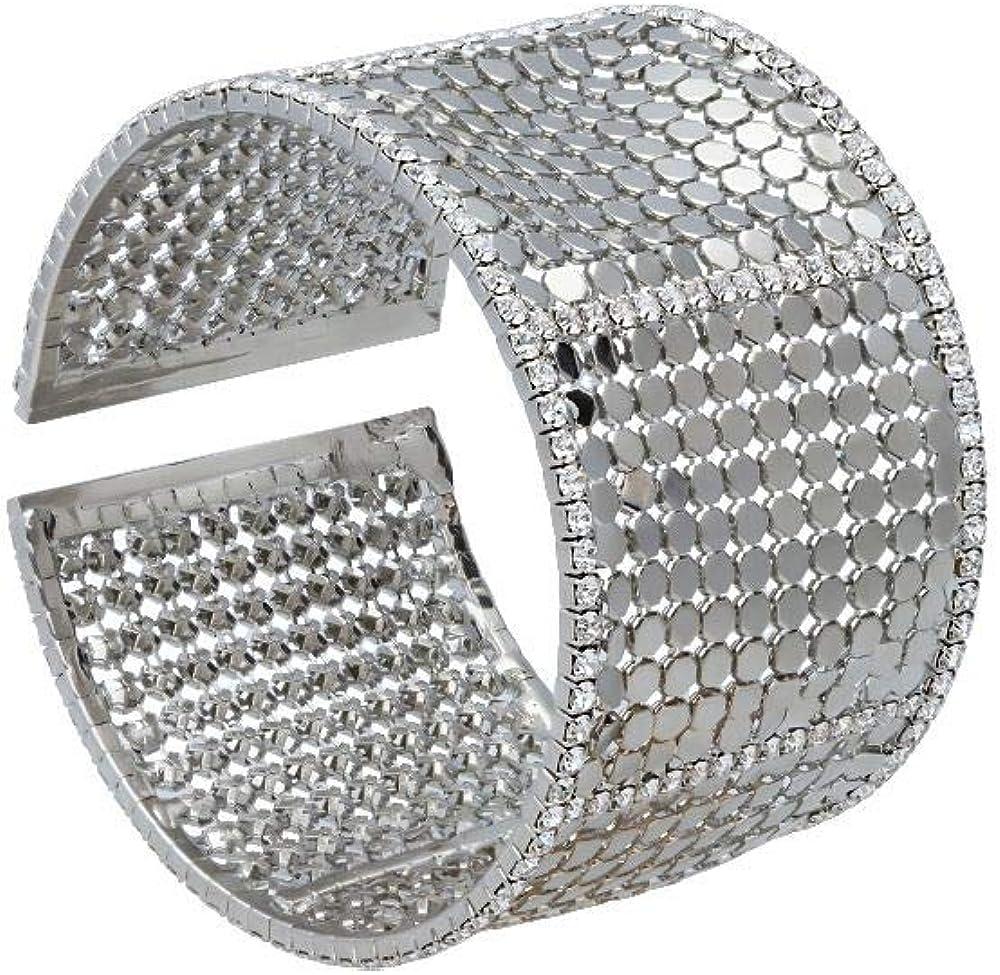 Stroili - bracciale  per donna con strass in metallo rodiato color argento 1666126