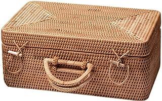Panier De Rangement De Boîte De Rangement Portable en Rotin Fait À La Main (Couleur: C)