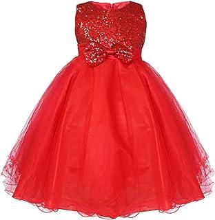 IEFIEL Vestido Princesa Traje de Ceremonia Vestido Fiesta Boda Dama de Honor Cumpleaños Niña Elegante Vestido Largo sin Ma...