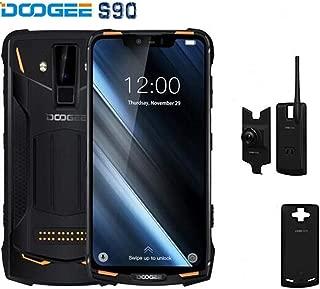 "DOO GEE S90 Unlocked Smartphone Super Version,IP68/IP69K Waterproof Shockproof Outdoor Rugged Cellphone,6.18""FHD+Screen 6GB RAM+128GB ROM 8MP+16MP Camera with Three Modules (Orange)"
