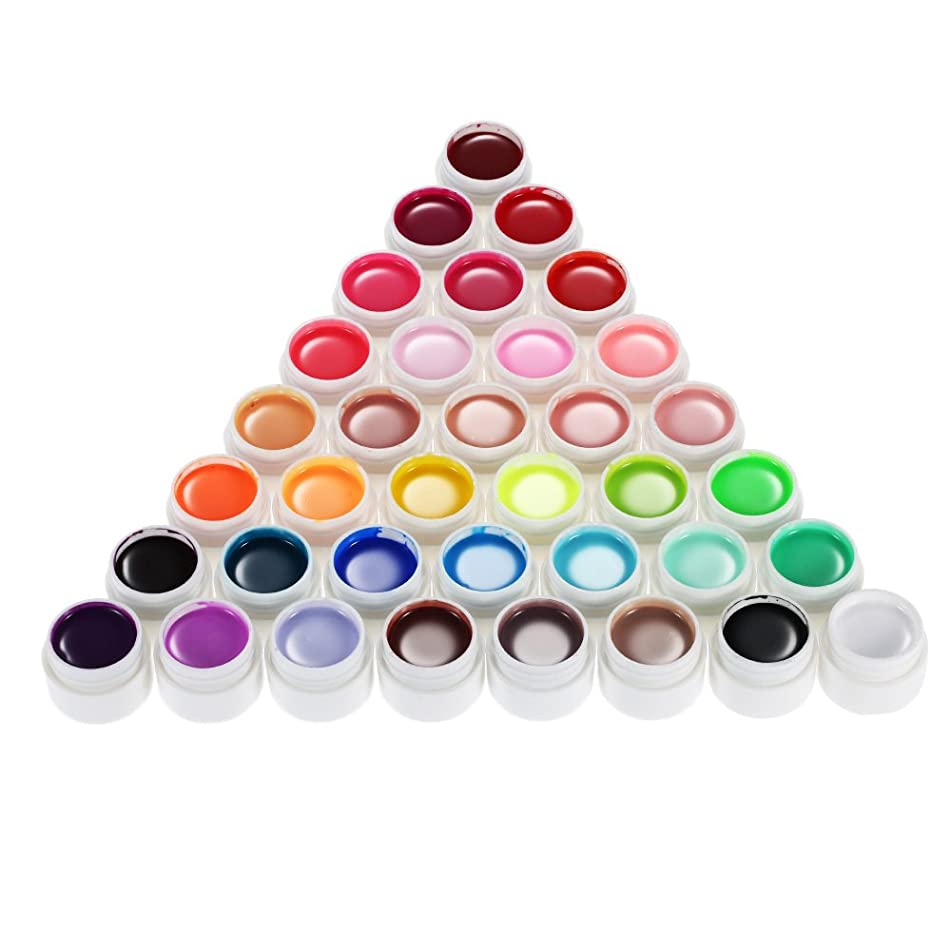 Anself 36 Colors Nail Gel Art Polish Pigment UV Gel Set …