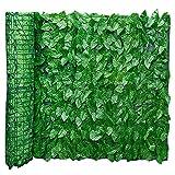 Künstliche Efeu Garten Sichtschutz, künstliche Hecken Zaun und Faux Ivy Vine Leaf Dekoration für Outdoor-Dekor, Garten
