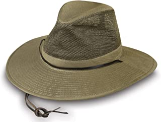 Mens Solarweave Breezer Hat with Mesh Crown and Chincord