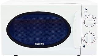 H.Koenig Micro-ondes VIO6 Compact 20L Blanc, Puissant 700W, Plateau tournant 24,5cm, Multifonction 5 niveaux de chauffe et...