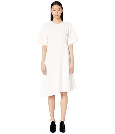 See by Chloe Cut Out Waist Flared Crepe Dress (White) Women