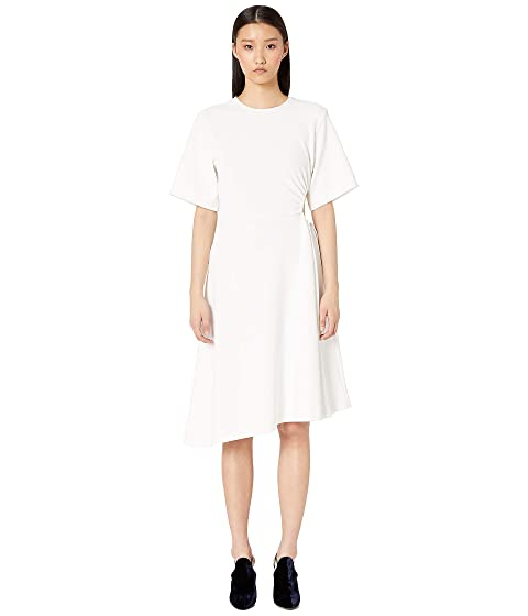 See by Chloe Cut Out Waist Flared Crepe Dress