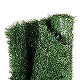 Gardenode Haie Artificielle Thin en Rouleau de 3 mètres - H 1m80-90 brins