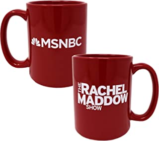 The Rachel Maddow Show Logo Ceramic Mug, Red 15 oz - Official Mug As Seen On MSNBC
