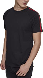 Urban Classics Men's Stripe Shoulder Raglan Tee T-Shirt