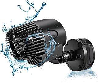 AQQA Aquarium Wavemaker Circulation Pump,360°Adjustable Ultra-Silence Magnetic Mount Suction Submersible Powerhead Pump,530GPH/2100GPH Freshwater or Saltwater Fish Tank