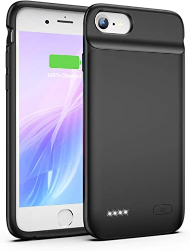 Battery Case for iPhone 8 7 6s 6 SE 2020(2nd Generation), 3200mAh Charging Case Portable Protective Charger Case for ...