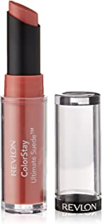 Revlon ColorStay Ultimate Suede Lipstick, Longwear Soft, Ultra-Hydrating High-Impact Lip Color, Formulated with Vitamin E, Socialite (025), 0.09 oz