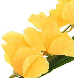 MonkeyJack Artificial Plants & Flowers Wedding Flower Gladioli Gladiolus stem 8 Colors - Yellow, 80cm