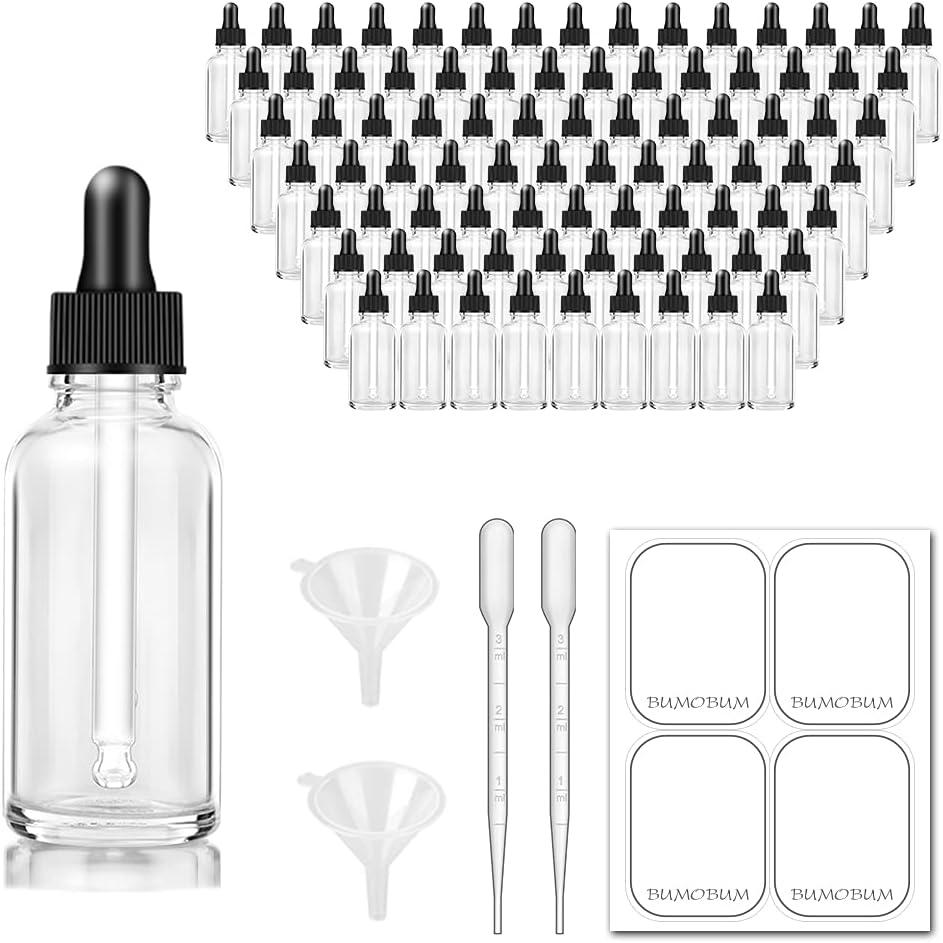 Bumobum Dropper Bottles 1 oz 30ml Tulsa Mall Large discharge sale Clear Bottl Eye Glass