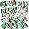 ペーパー&ステッカーキット - フェスティブクリスマス - 17両面12×12用紙 33デザイン&1×8×12ステッカーシート - スクラップブックカード作成クラフト - ミス・ケイト・カットテーブル製