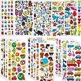 Nifogo Gommettes Enfants 32 Feuilles, 800+ Autocollants 3D pour Enfants Autocollants Gonflés Autocollants d'animaux Mignons, y Compris Papillons, Insectes, Animaux (Medium, Multicolore)