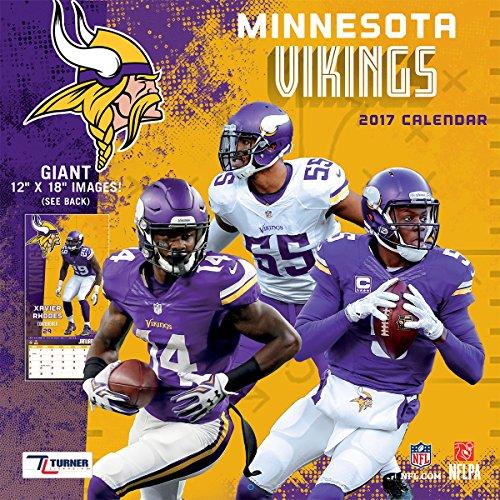 "Turner Licensing Sport 2017 Minnesota Vikings Team Wall Calendar, 12""X12"" (17998011916)"