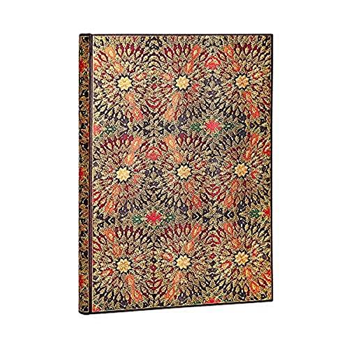 Paperblanks Cuadernos de Tapa Dura Flores Incandescentes | Liso. | Grande (210 × 300 mm)