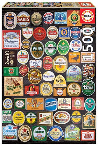 Educa Borras - Genuine Puzzles, Puzzle 1.500 piezas, Etiquetas de cerveza (18463)