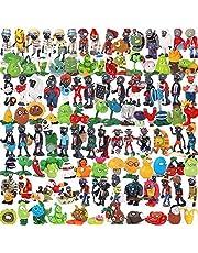 144 Sztuk/Zestaw Cartoon Plants Vs Zombies Pvz Rysunek Zabawki, Pełny Zestaw Solidne Figurki Do Zabawy Pcv Figurki Model Kolekcjonerski Zabawki (Torba Opp) 3-7 Cm