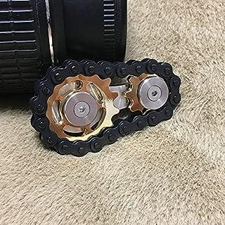 Fingertip Gyro Sprocket Fidget Toy Gear Toy Stainless Steel Sprockets Flywheel Fingertip Gyro Sprockets Chains EDC Metal G...
