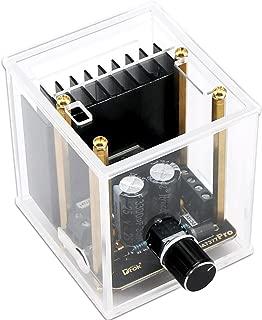 Stereo Amp Module, DROK Dual Channel 30W+30W Audio Amplifier Board TDA7377 DC 12V Class AB 2.0 Digital Auto Power Amplifier with Case for Car Speaker System DIY