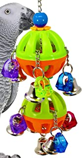 Bonka Bird Toys 1509 Tuff Bellpull Tower Parrot cage Toys Cages African Grey. Quality Product Hand Made in The USA.