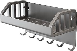 Cozy Home2 浴室用ラック マグネット バスルームラック お風呂 掃除収納 壁掛け 小物ホルダー 玄関磁石キーフック 約W22×D11×H12cm 耐荷重4.5Kg(グレー)