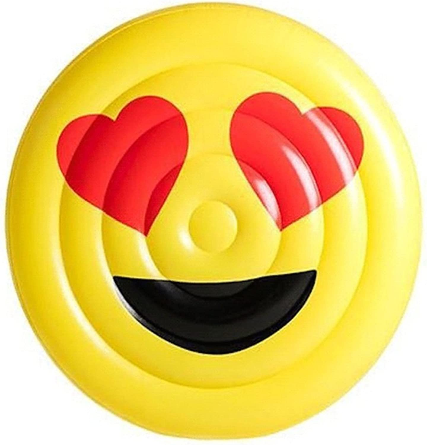 WSGYX Emoticon Bag Inflatable Floating Row Smile Face Crying Face Floating Mattress Cloth Glasses Diameter 150CM