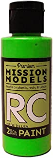 Mission Models Automobile Mmrc-048 Water-Based RC Paint 2 Oz Bottle, Fluorescent Racing Green