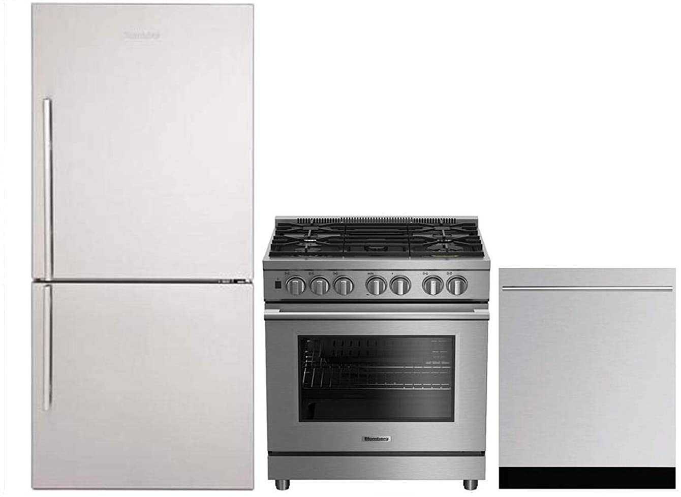 Blomberg 3-Piece Kitchen Package with BRFB1812SSN 30