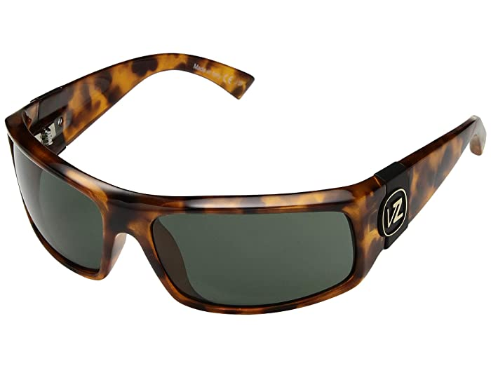 VonZipper  Kickstand (Vintage Tortoise Satin Vintage Grey) Fashion Sunglasses